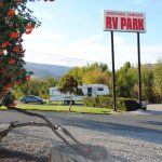 Brookside Campsite front entrance and office, Cache Creek, BC, Canada